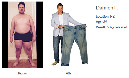 Damien Before and After Weight Loss System