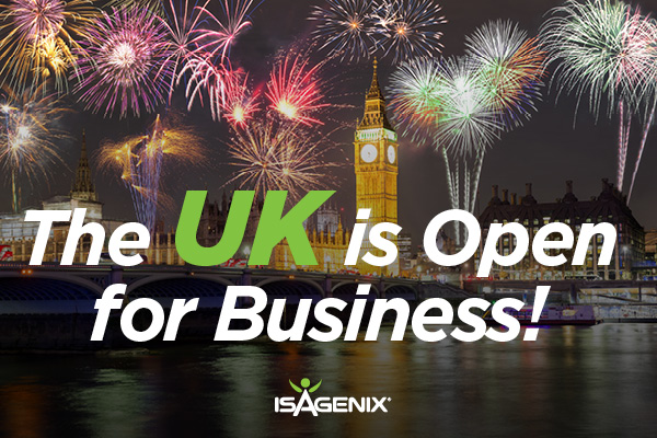 Isagenix Euro Now Open