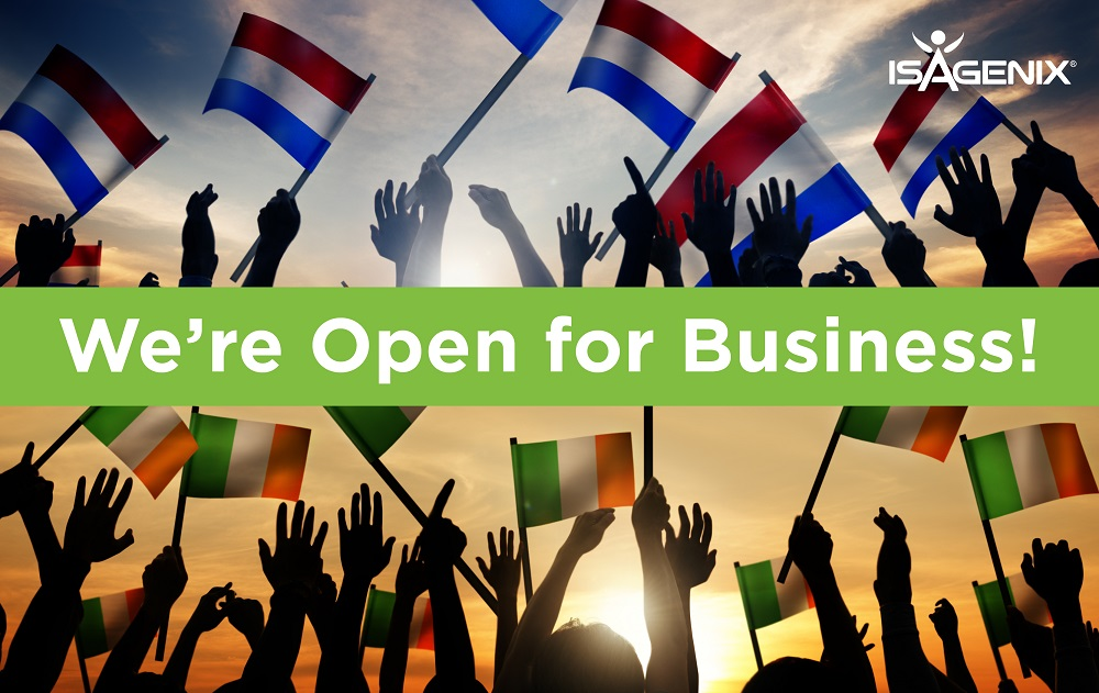 Isagenix Netherlands and Ireland are Now Open