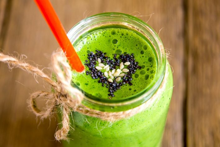 Delicious healthy green smoothie