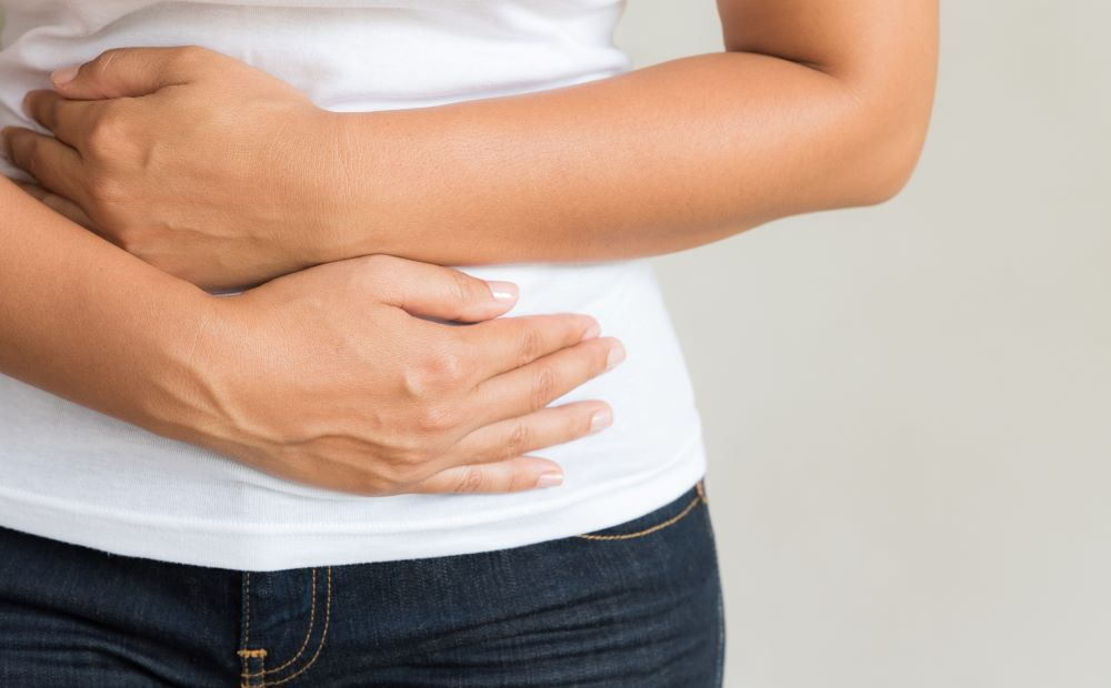 Bloating can sometimes cause pain and discomfort.