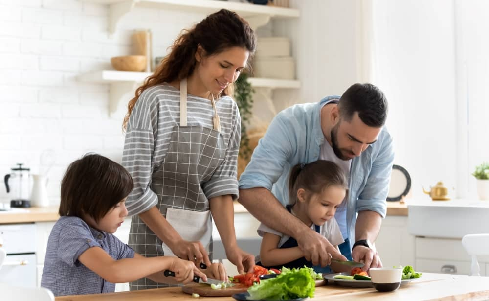 Cooking with children gives you the chance to introduce them to fresh, healthy food.