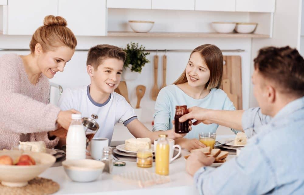 Families who eat together develop strong parent child bonds.